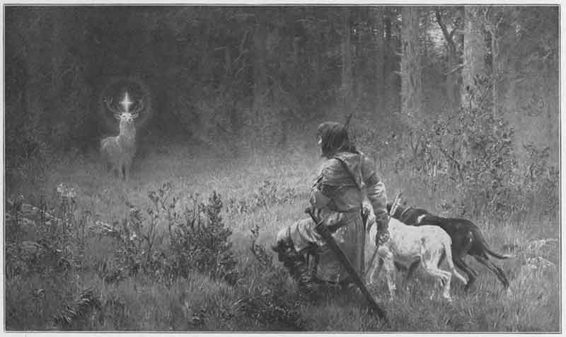 The Conversion of Holy Hubertus, Wilhelm Räuber (1849-1926)